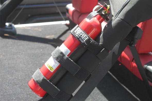 Rebel Off Road Universal 2-4lb Fire Extinguisher Holder for Jeep Wrangler JK 2007-2014