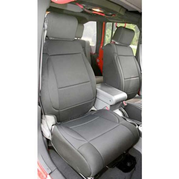 Rugged Ridge Cover Seat FR JK 11-14 ABS BLK