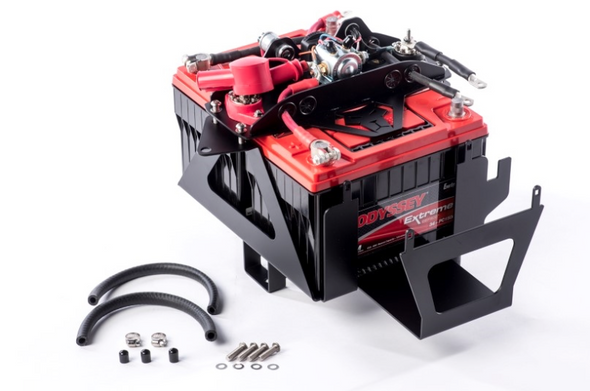 This is the most complete and easiest to install dual battery system for the JK Wrangler.The top cover plate has several innovative features in a simple package. All of the wiring has already been done for you, and the smart isolator comes pre-installed. The welded gussets on top have holes with grommets to route the wires directly to the correct battery post, so there's no guess work involved to make the connections. Use the extra grommets for routing your own accessory wires cleanly and neatly to the power and ground bus bars. High quality battery terminal connectors are crimped to the flexible 2 gauge wire connecting the batteries together. With all the wiring integrated into the top plate, servicing your batteries has never been easier. Simply pull the terminals off the battery posts, remove the 4 easily accessible bolts securing the lid, and all the wiring can be lifted up and out of the way to service your batteries when necessary.The included smart isolator gives you automatic control of all the charging functions with no interaction required.Here's how it works.When both your batteries are fully charged at 13.2 volts, they are automatically connected and are charged at the same time.When you park and turn off the engine, but continue to use accessories such as lights or the stereo or a CB, both batteries begin to drain down.When your main cranking battery reaches 12.7 volts, the smart isolator separates the batteries, so that your cranking battery will have enough power to start the engine. The second battery continues to power your accessories for as long as it will last.After you crank the vehicle, your main cranking battery will be charged up to 13.2 volts first, and then the isolator will begin charging your accessory battery. By only charging one battery at a time, your alternator is protected from excessive strain.What if your cranking battery is somehow drained down too low to be able to start the vehicle? We have a solution for that.Press the Start B