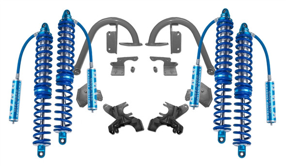 "Recon Complete 2.5 12"" Front and 14"" Rear Coilover Kit (No Bumps) 2007-2018"
