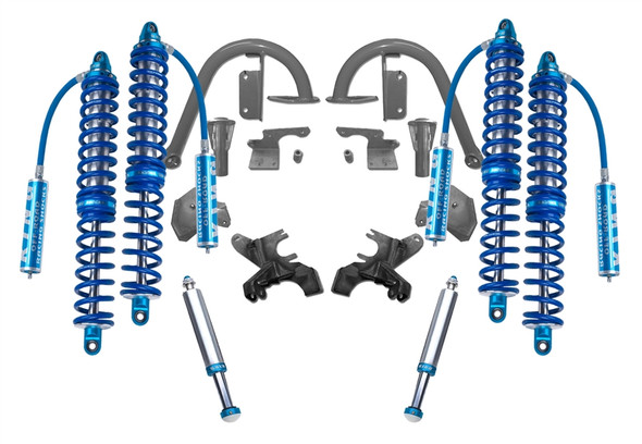 """Recon Complete 2.5 12"""" Front and 14"""" Rear Coilover Kit with Bumpstops JK 2007-2018"""