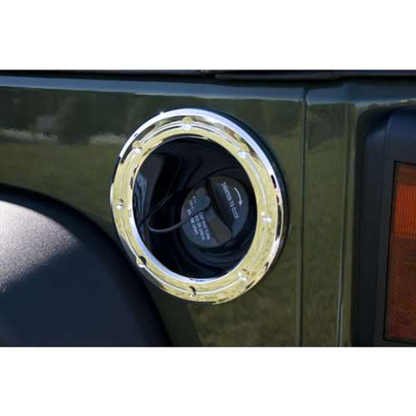 Rugged Ridge Fuel Filler Accent Chrome JK