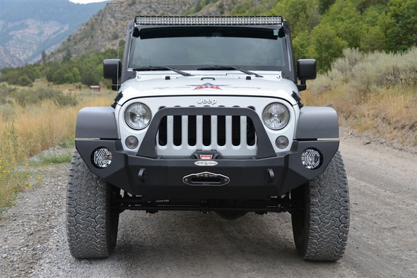 Rock-Slide Engineering Jeep JK Rigid Front Bumper Complete - Steel