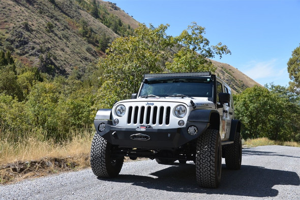 Rock-Slide Engineering Jeep JK Rigid Front Bumper / NO Bull Bar / With Winch Plate - Steel