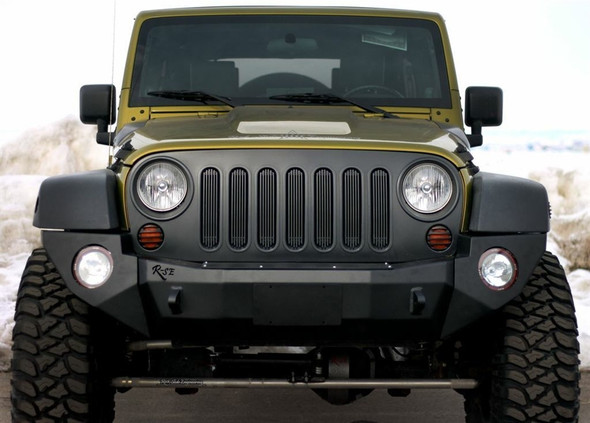 Rock-Slide Engineering Jeep JK Rigid Front Bumper / NO Bull Bar / NO Winch Plate - Steel