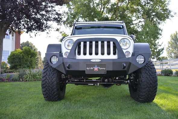 Rock-Slide Engineering Jeep JK Rigid Front Bumper / Bull Bar / NO Winch Plate - Steel