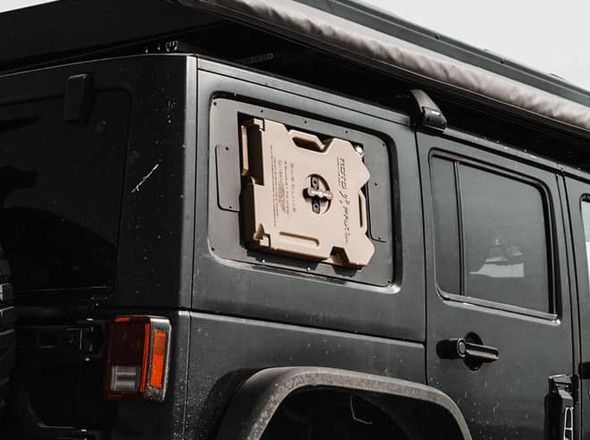 Blackout Window Storage For Jeep Wrangler