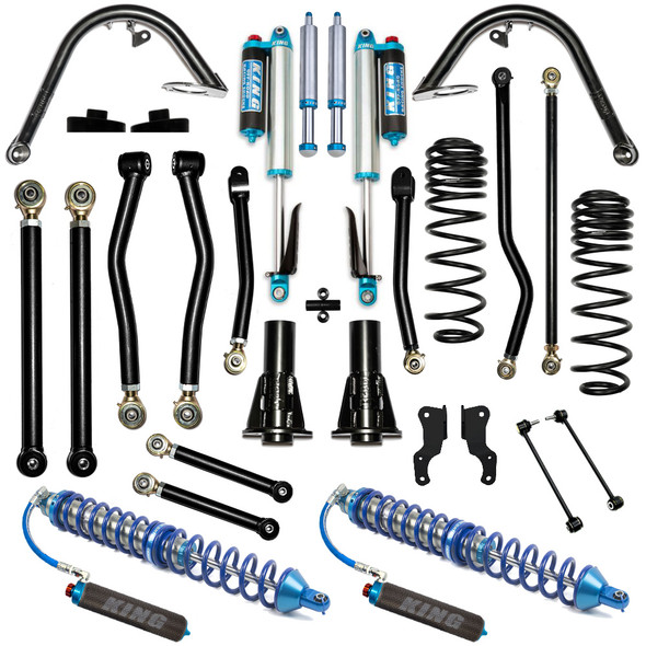 """Rebel Off Road Recon 4.5"""" Overland Stage 2 Complete Coilover Kit, 2020+ Jeep Gladiator JT"""