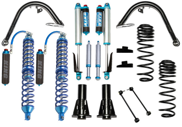 """Recon Complete Stage 1 Overland Coilover Kit, 4.5"""" Lift, Jeep Wrangler JL"""