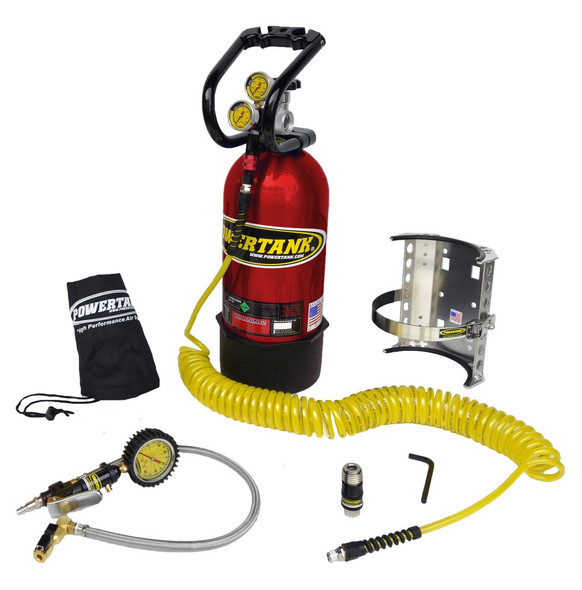 10 lb Power Tank Pkg B w/ Tire Inflator - CO2 Tank Portable Air System - PT10-5250-CR-PB