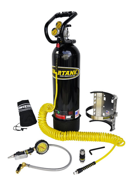15 lb Power Tank Pkg B w/ Tire Inflator - CO2 Tank Portable Air System - PT15-5350-CR-PB