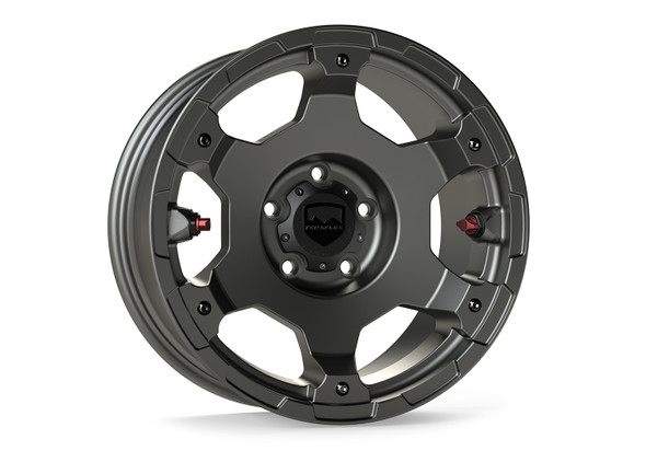 "Teraflex Nomad Off-Road Wheel – Deluxe – 5x5"" – Titanium Gray – Each - 1056159"
