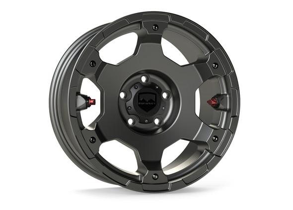 """Teraflex Nomad Off-Road Wheel – Deluxe – 5x5"""" – Titanium Gray – Each - 1056159"""