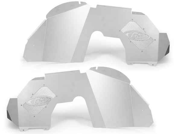 Genright Jeep JL & JT Aluminum Front Inner Fenders (Silver) - TFF-10SIF
