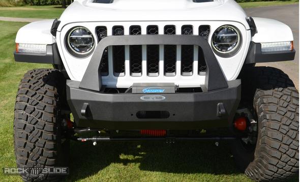 Rock-Slide Engineering Stubby Front Bumper w/ Bull Bar Jeep Wrangler JT - B-S-100-JT
