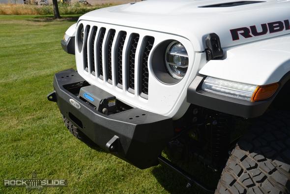 Rock-Slide Engineering Stubby Front Bumper w/o Bull Bar Jeep Wrangler JT -  FB-S-101-JT