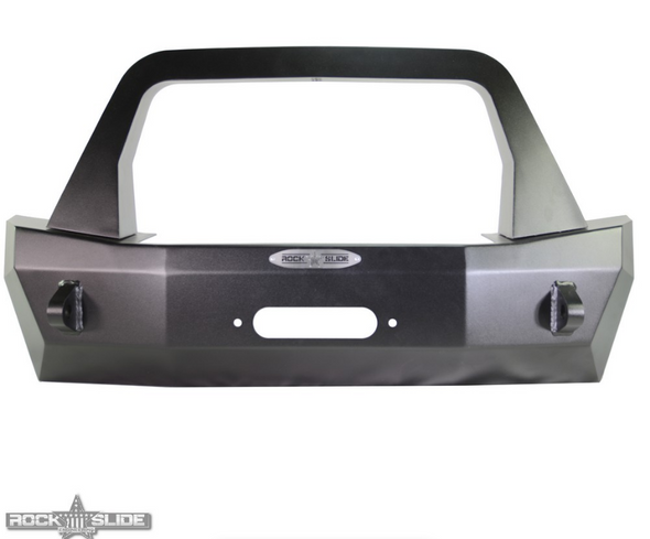 Rock-Slide Engineering Stubby Front Bumper w/ Bull Bar Jeep Wrangler JL -  FB-S-100-JL