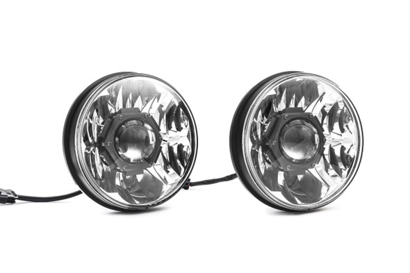 "KC HiLiTES Gravity® LED Pro 7"" Headlight DOT Jeep JK 07-18 Pair Pack System - #42341"
