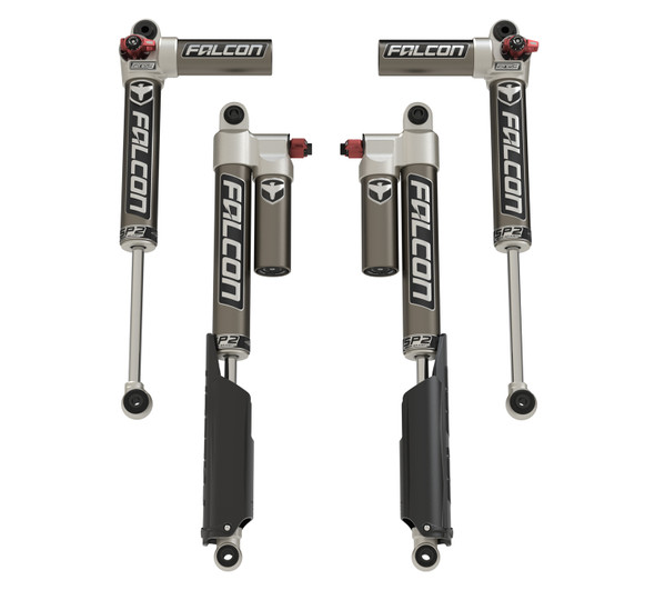 Teraflex JT: Falcon SP2 3.3 Fast Adjust Piggyback Shocks – All 4