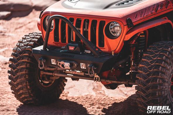 Rebel Off Road Summit Series Front Bumper w/Hoop JK/JL/JT
