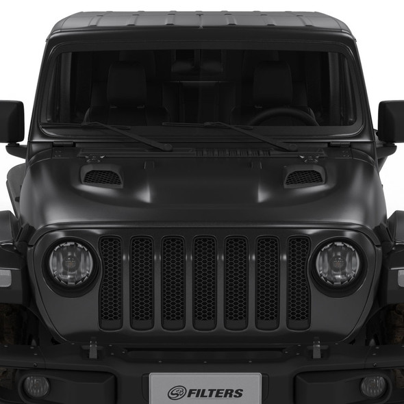 S&B Air Hood Scoops For Jeep JL Rubicon / Gladiator (Scoops ONLY)