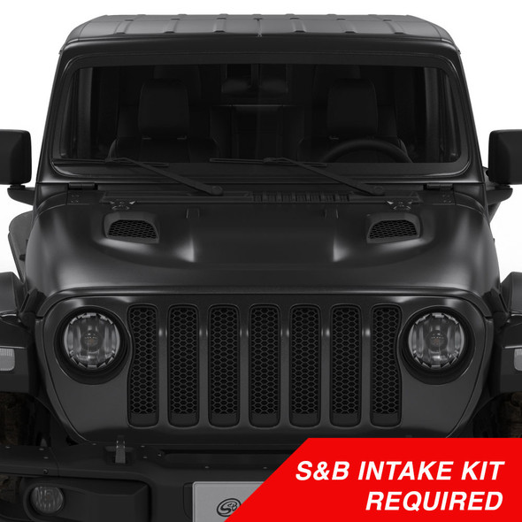 S&B Air Hood Scoops For Jeep JL Rubicon / Gladiator (S&B Intake Required)