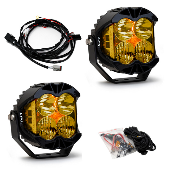 Baja Designs LP4 Pro Driving/Combo LED Light Amber - Pair