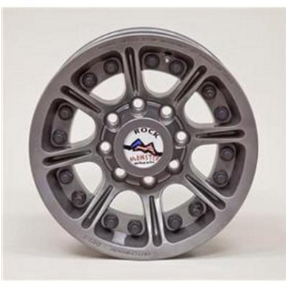 Rock Monster D.O.T. Beadlock, 17x8.5 Wheel with 8 on 6.5 Bolt Pattern - Argent - 60669-023-01
