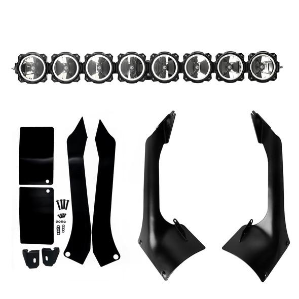 "KC HiLiTES Gravity LED Pro6 LED Light Bar - 50"" Jeep Wrangler JL & Gladiator JT 8-Ring - 91336"
