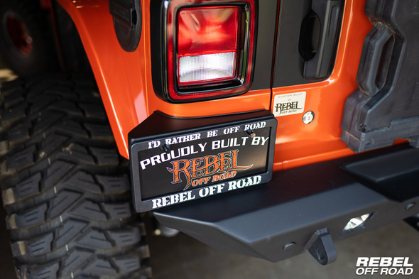 Rebel Off Road License Plate Mount for the Jeep Wrangler JL Summit Series Bumper