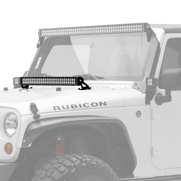 "KC HiLiTES 30"" C-SERIES C30 LED - LIGHT BAR SYSTEM - 180W COMBO SPOT / SPREAD BEAM - FOR 07-18 JEEP JK"