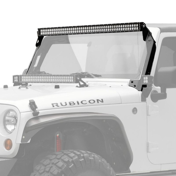 "KC HiLiTES 50"" C-SERIES C50 LED - LIGHT BAR SYSTEM - 300W COMBO SPOT / SPREAD BEAM - FOR 07-18 JEEP JK"