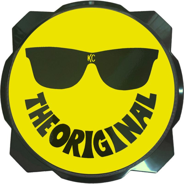 "KC HiLiTES 6"" Pro6 Gravity® Light cover - 50th Anniversary Smiley Face- Yellow / Black KC Logo"