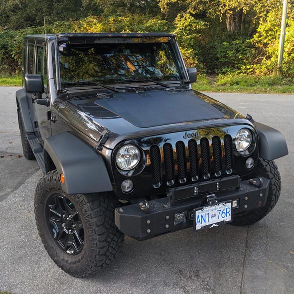Cascadia 4x4 Jeep Wrangler JK VSS System - 100 WATT Hood Solar Panel