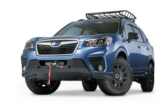 Warn 19+ Subaru Forester - Semi-Hidden Mounting Kit - 106413