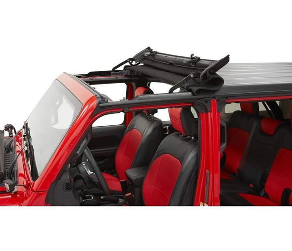 Bestop Sunrider for Hardtop- Black Diamond - '20-21 Gladiator / '18-21 Wrangler JL - 5245435