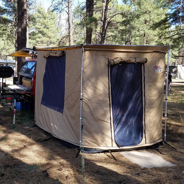 Tuff Stuff® Overland Awning Camp Shelter Room W/ PVC Floor, 280G Material, 6.5′ x 8' - TS-AWN-CSR-280G