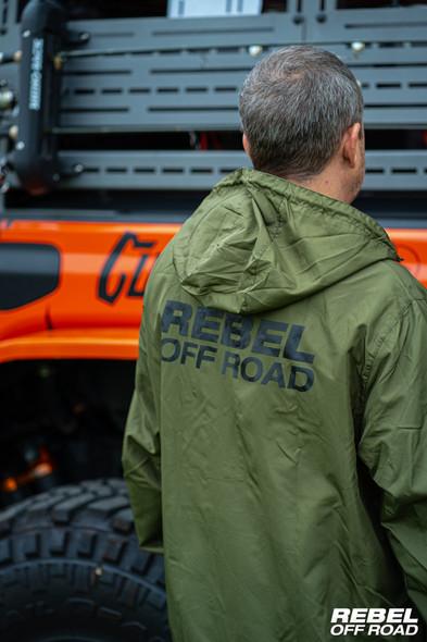 Rebel Off Road Silverton Army Green Pullover Windbreaker