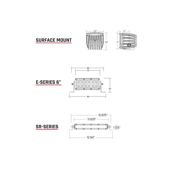 Rigid Industries D-Series SAE Fog Light Pair - 504813