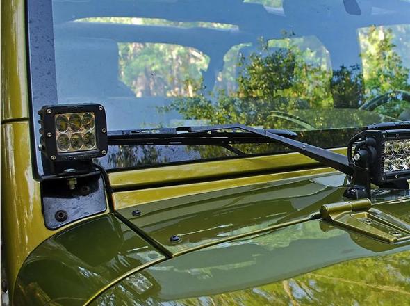 Rigid Industries 40139 RIGID A-Pillar Light Mount Kit for 07-18 Jeep Wrangler JK