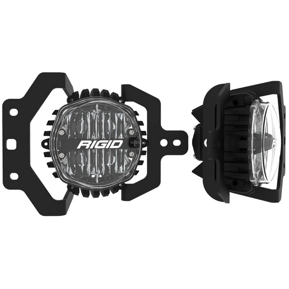 Rigid Industries 37108 SAE Round Fog Light & Mount Kit for 18-21 Jeep Wrangler JL & Gladiator JT Sport & Sport S