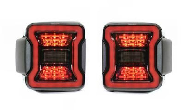 Quake LED Jeep Wrangler JL Blackout LED Replacement Tail Lights