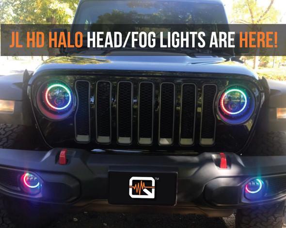 Quake LED Jeep Wrangler JL/Gladiator 9 Inch HD Headlights