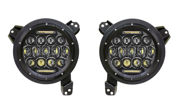 Quake LED Jeep Wrangler JL/Gladiator 9 Inch RGB Headlights