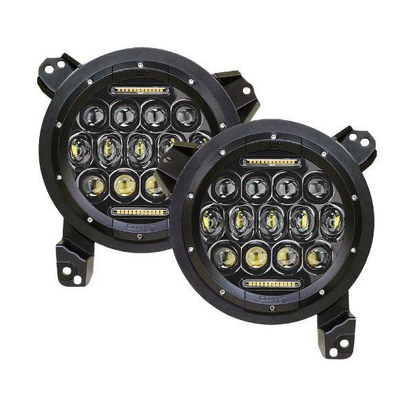 Quake LED Jeep Wrangler JL/Gladiator 9 Inch RGB Headlights