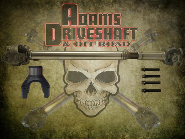 Adams Driveshaft JL Sport Front 1350 CV Driveshaft OEM Flange Style [Extreme Duty Series]