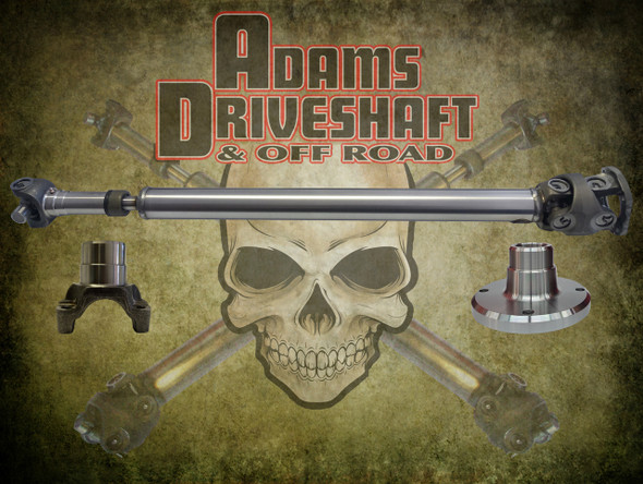 Adams Driveshaft JL Sahara Front And Rear 1350 CV Driveshafts [Extreme Duty Series]