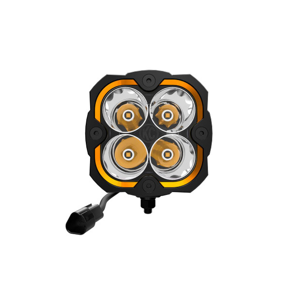 KC HiLiTES FLEX ERA® 4 - 2-LIGHT SYSTEM - PILLAR MOUNT - 80W SPOT BEAM - FOR 18-21 JEEP JL / JT