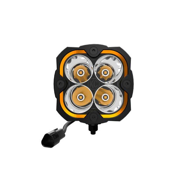 KC HiLiTES FLEX ERA® 4 - 2-LIGHT SYSTEM - PILLAR MOUNT - 80W SPOT BEAM - FOR JEEP JK