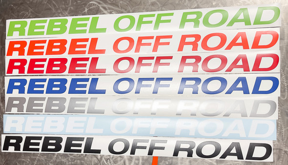 Rebel Off Road Windshield Banner 50""